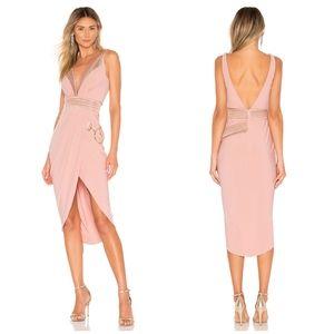 NWT Zhivago Waldorf Dress x Revolve Dawn Pink Gold
